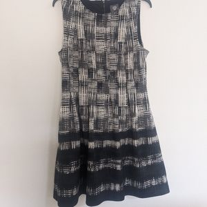 Vince Camuto Black and White Print Dress